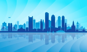 City skyline detailed silhouette. Vector illustration